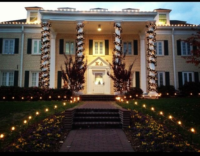 Best Sorority House Christmas Lights Displays 2016 Greekrank